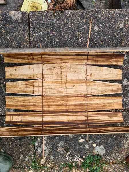 Sweet chestnut pattern cut