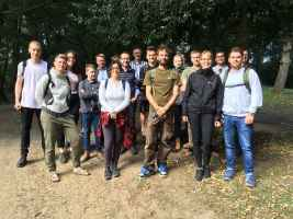 Foraging students at Crystal Palace