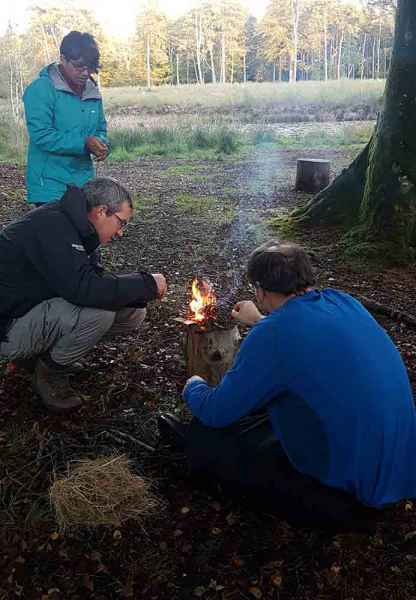 Learning to make fire lakeside